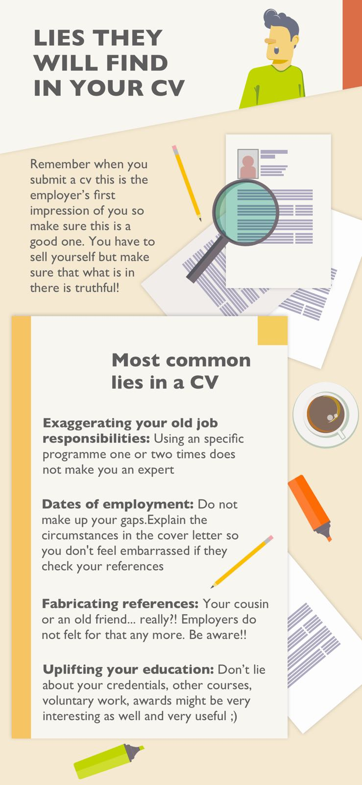 Lies they will find in your CV
