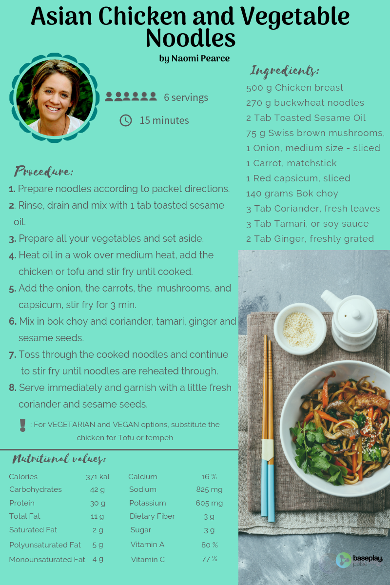 Asian Chicken and Vegetable Noodles