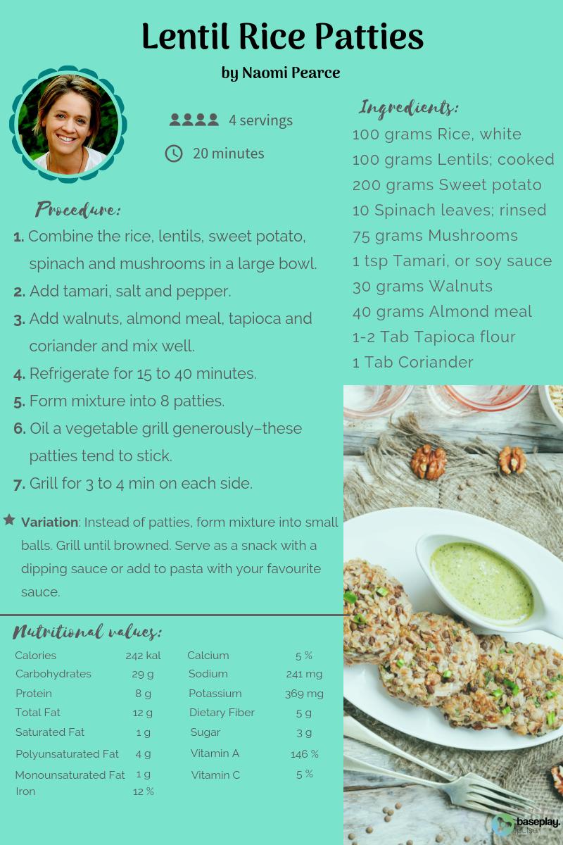 Lentil Rice Patties