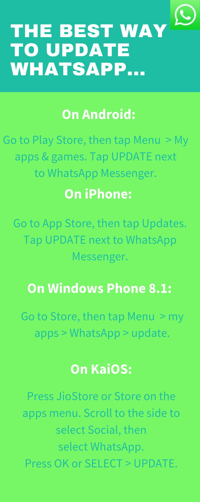 The Best Way to Update Whatsapp