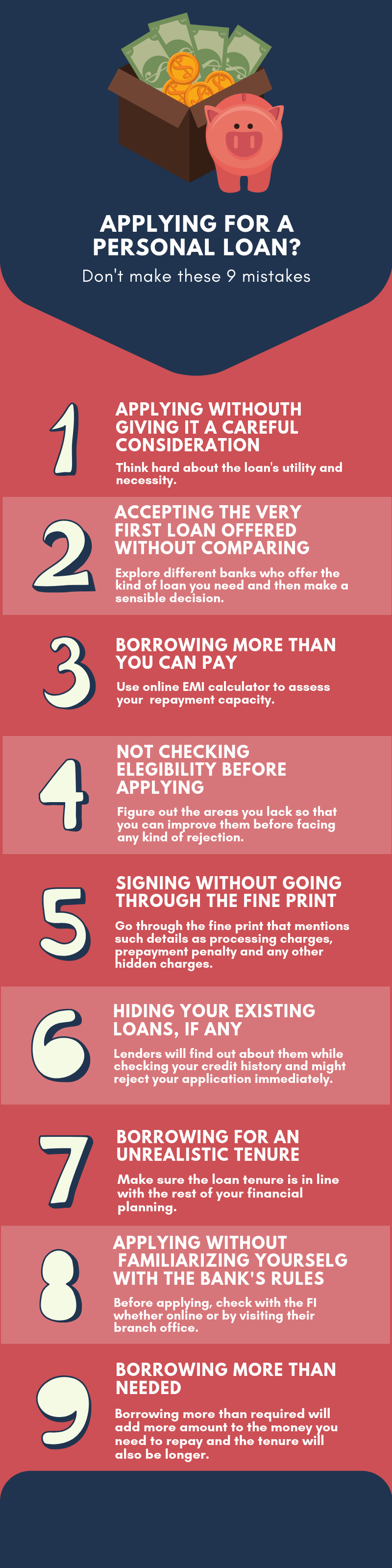 Share 9 Common Mistakes When Applying For A Personal Loan